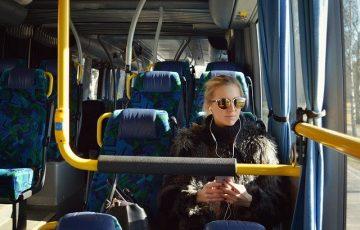pasażerka autobusu